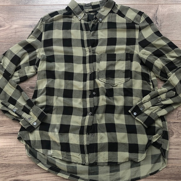 Wilfred Free silky plaid blouse